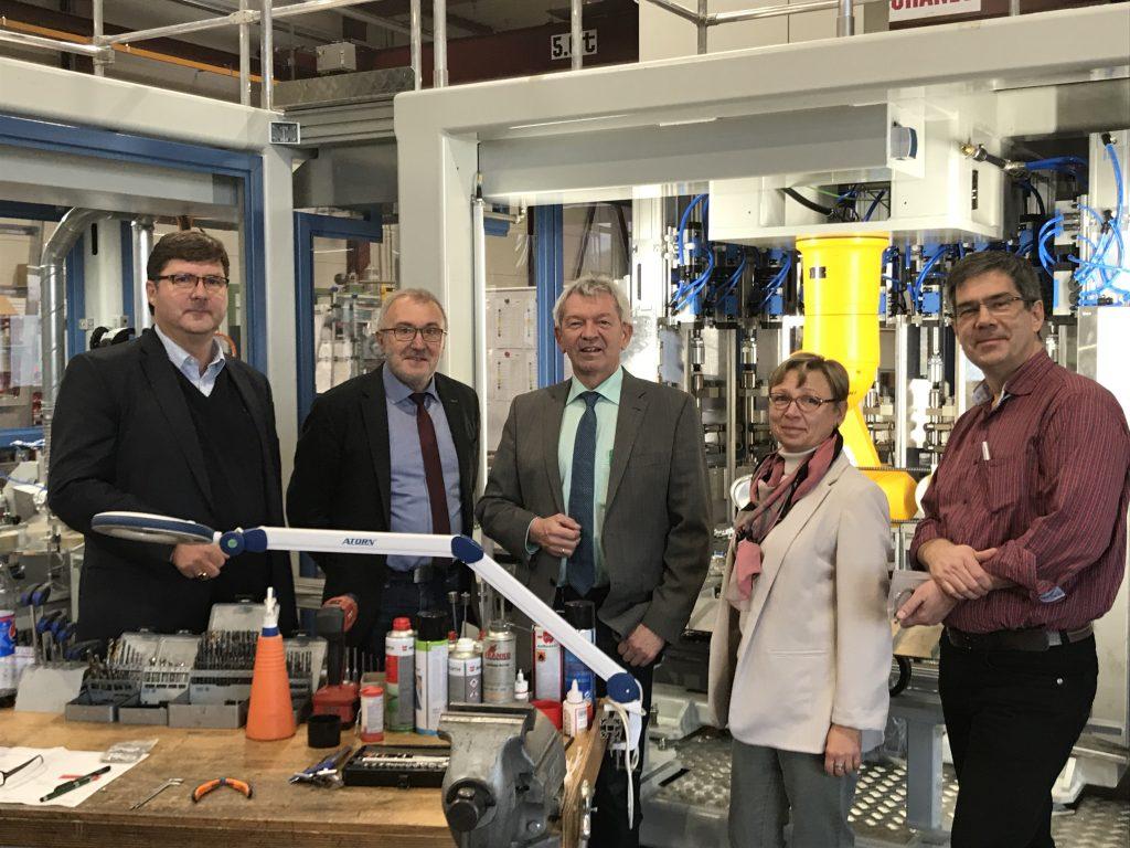 Landrat Johann Kalb zu Besuch bei der INKA System GmbH