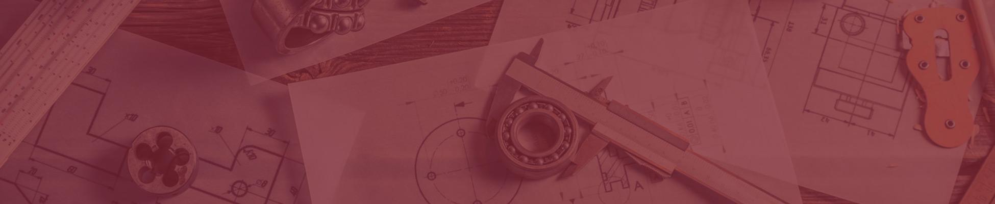 Planungsunterlagen und Messschieber