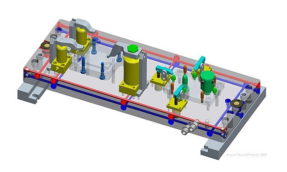 Spannvorrichtung CAD Zeichnung 2