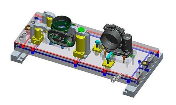 Spannvorrichtung CAD Zeichnung 1